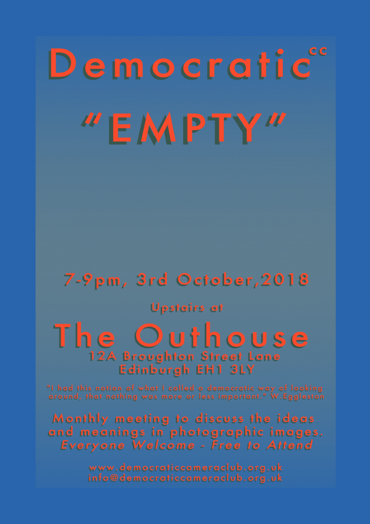 3rd October 2018 Empty